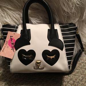 NWT Betsey Johnson Panda satchel/crossbody Bag